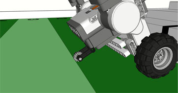 Robot zatrzymany w strefie 2